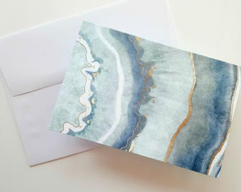 Agate Note Card Set . Agate Thank You Cards . Modern Note Card Set . Stocking Stuffer . Teacher Gift . Wedding Thank You Cards . Blank