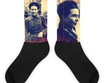 Simone De Beauvoir Socks