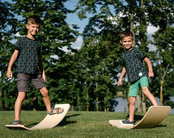 Balance board / Rocking board / wywywu / Wooden board / Montessori toy / Waldorf toy / Children gift: Handmade plywood toy for kids