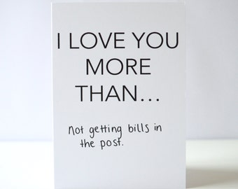 I Love You More Than... Valentines Day Card