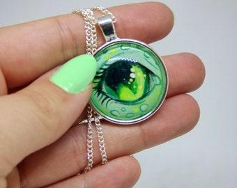 Mermaid Lover's Eye Pendant