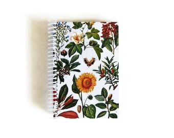 Botanical Print Notebook A6 Spiral Bound
