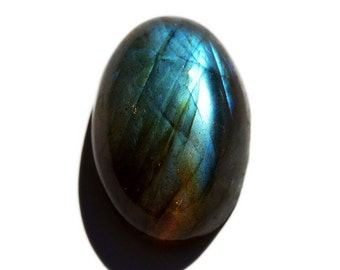 Labradorite Cabochon Stone (20mm x 14mm x 8mm) - Oval Cabochon - Gem for Ring