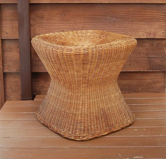 Wicker Table Stand Vintage Wicker Seat Wicker Table Base