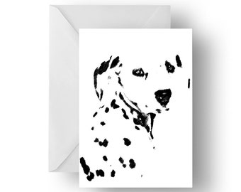 Dottie Dalmatian blank greeting card- Dog quote greeting card, dog card, Greeting card, Quote greeting card, Dog quote