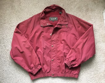 Men's Vintage Timberland Windbreaker Jacket Size Xl