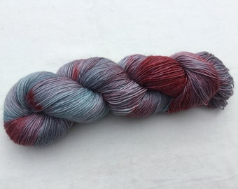 Hand Dyed Merino/Kid Mohair/Nylon 4 ply wool