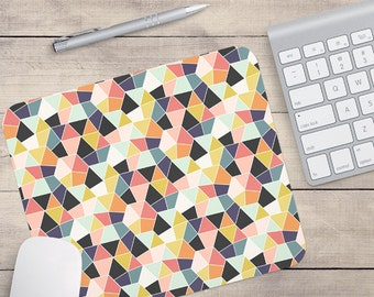 Geometric Mouse Pad, Retro Mouse Pad, Patterned Mouse Pad, Geometric Coaster, Retro Coaster (0020)