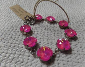 Swarovski crystal Hot Pink bracelet