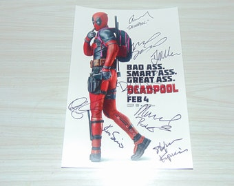 Authentic Deadpool Signed Autographed Photograph Ryan Reynolds Morena Baccarin