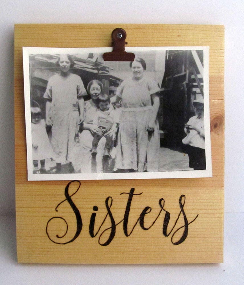 Sister frame, Sister picture frame, Rustic picture frame, Gift for ...