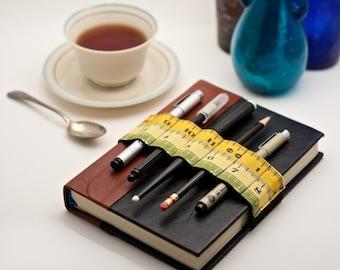 Journal Bandolier // spring inches // (a better pencil case, journal pen holder, book strap, pen loop, pencil roll, pen bandolier)