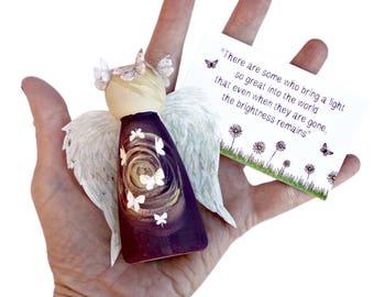 Guardian Angel of Eternal Light Peg Doll - Guardian Angel Peg Doll - Bereavement Sympathy Remembrance Gift - Lotty Lollipop - Angel Gift