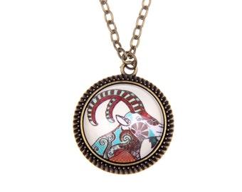 Capricorn Necklace  2525C