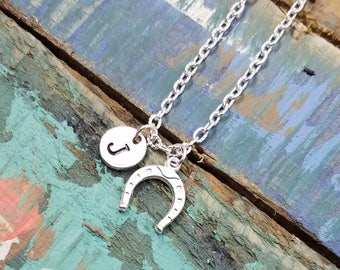 Horse Shoe Necklace, Silver Horse Shoe  Jewelry, Good Luck Necklace, Lucky Horseshoe Necklace
