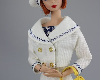 short coat and hat PDF Pattern Download for Silkstone barbie Dolls