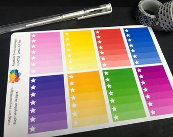 Ombre Checklists Planner Stickers