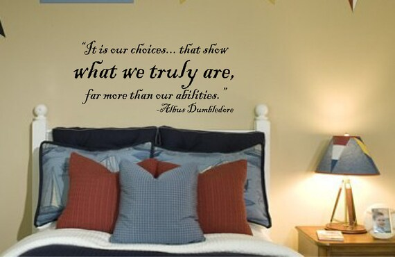 Harry Potter Wall Decal VInyl Wall Quote Vinyl Decal