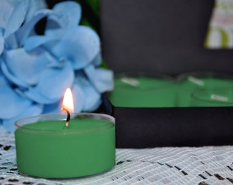 Green Tea & Lemongrass  Soy Tealights Candle    Jasmine   Scented Candles   Housewarming Gift   Gift For Her   Tea Lights   Soy Candle