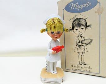 Vintage Nurse Figurine   Gorham Figurine   Nurse Statue   Helping Hands   First Responder Gift   Graduation Gift