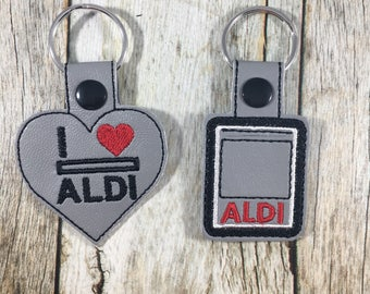 Aldi Keychain, Quarter Keeper, Aldi Quarter Holder, Aldis, Aldi, Keyfob, Mom Gift, Aldi Quarter Keeper, Stocking Stuffer Idea, Aldi Quarter