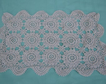 Vintage Crocheted Cream Table Runner or Mat - Vintage style for your Home.