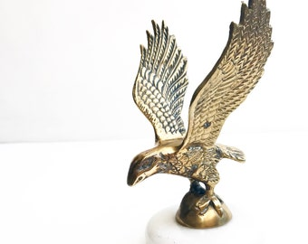 Vintage Brass Eagle Paperweight