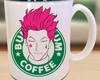Bungie Gum Nen Hisoka Anime Character Geek Coffee Mug Gift Idea Parody Mug