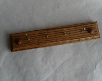 Key Rack Jewelry Rack Oak