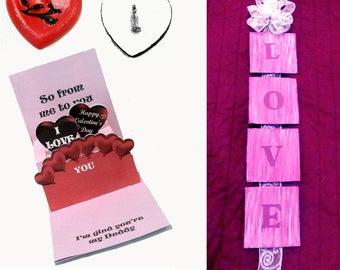 Children's Valentine activity kit with worksheets, children's Valentine craft kit, Valentine activity kit, Valentine's Day