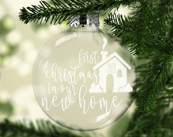 New Home Christmas Ornament - Housewarming Gift - New Home Gift - Realtor Gifts - Personalized Christmas Ornament - New Home Gift Christmas