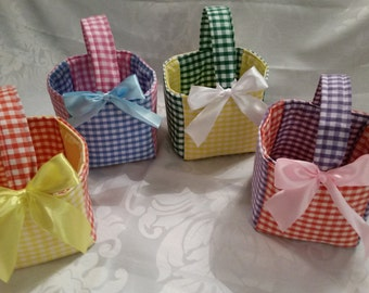 Easter Baskets. Egg Hunt, Gift Basket, Mothers Day, Bright Colourful Gift. Individual or Set