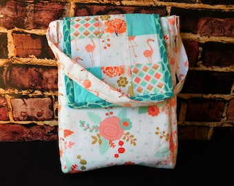 Girls quilted messenger bag