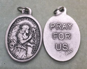 St. Gabriel the Archangel holy medal - Catholic Saint, Angel - patron of broadcasters, clergy, messengers, radio, telephones, television