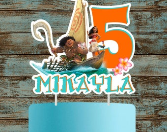 Moana Cake Topper, Moana Cake Topper, Printable Moana Centerpiece, Moana Birthday Party Decorations, Moana Centerpieces, Moana Cake