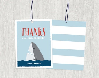 Shark Favor Tags | 2.25x3 | Customized Digital File
