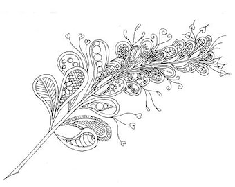 Bubble Fern - Colouring Sheet