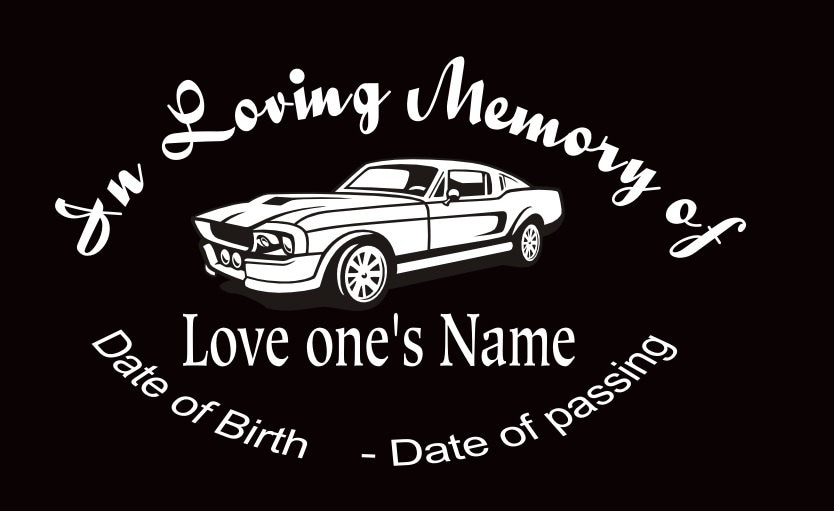 Custom Car Decals In Loving Memory