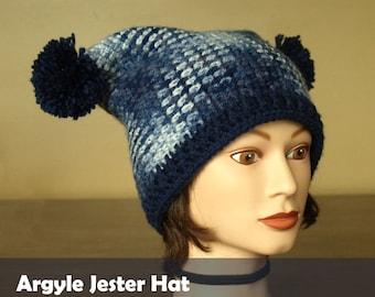 Argyle Jester Hat
