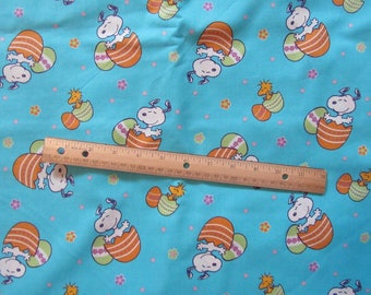 Snoopy/Woodstock Easter Egg Fabric by the Half Yard