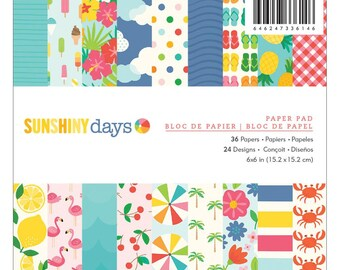 "Pebbles | Sunshiny Days | Single-Sided Paper Pad 6""X6"""
