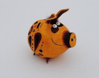 Piggy bank - paper mache coin box - moneybox - cash box - kids piggy bank - piggy bank no hole - personalized piggy bank