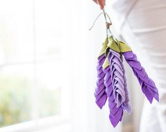 Felt Lavender stems, felt flowers, lavender stems, felt bouquet, lavender bouquet, eco-friendly flowers, mini bouquet, artificial flowers