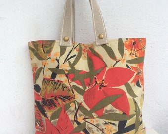 Handmade Tote Bag from Vintage Fabric