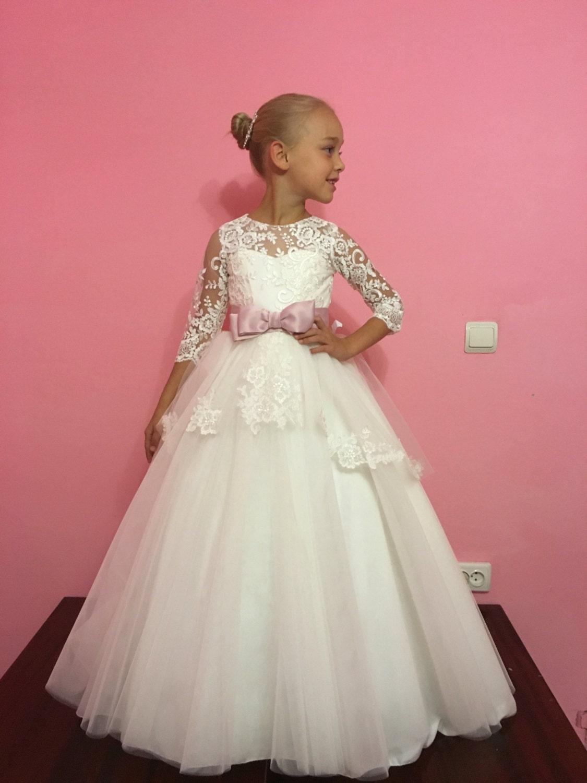 Marfil Florista Holiday de boda vestido de fiesta de Dama de