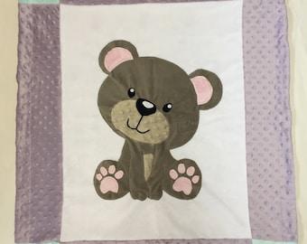 Bear Minky Baby Blanket