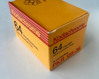 SALE - Unopened Box - Kodachrome 64 PKR-135 36 exposure, 35mm Film - EXPIRED - Color Film, Transparency Film