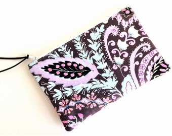 PURPLE ZIPPER POUCH - Gif for Her - Small Cosmetic Pouch - Small Zipper Pouch - Gift for Her - Gift for Women