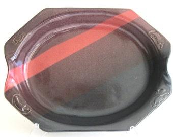 Large Oval Baker -- Sandia Glaze