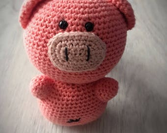 Pink Piglet baby rattle
